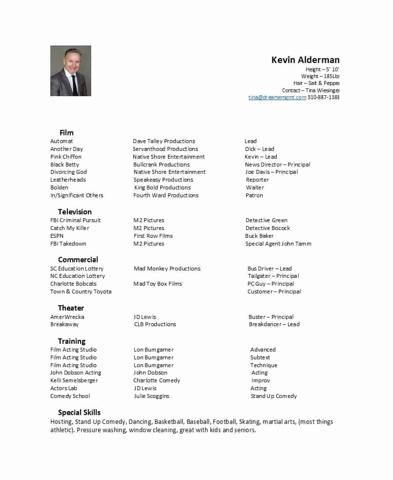 Theatre Resume Template Google Docs New 50 Free Acting Resume Templates Word & Google Docs Template Lab