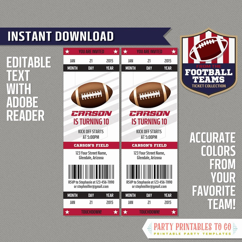 Ticket order form Template Fresh Football Ticket Invitation Template Cardinal and Black