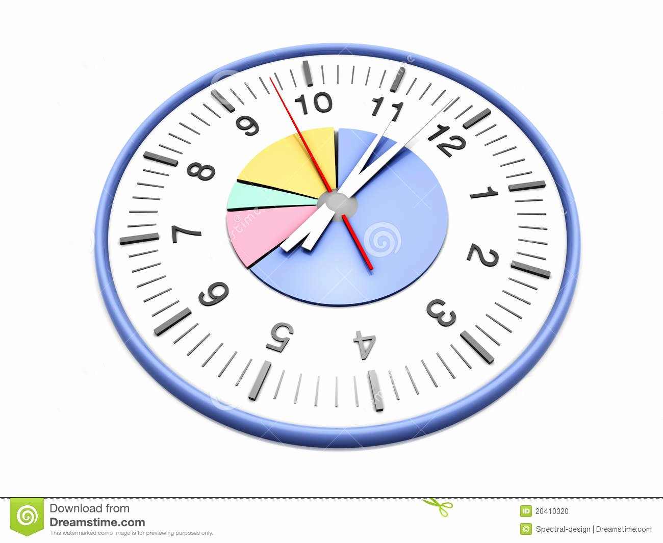 Time Management Pie Chart Awesome Time Management Stock Image