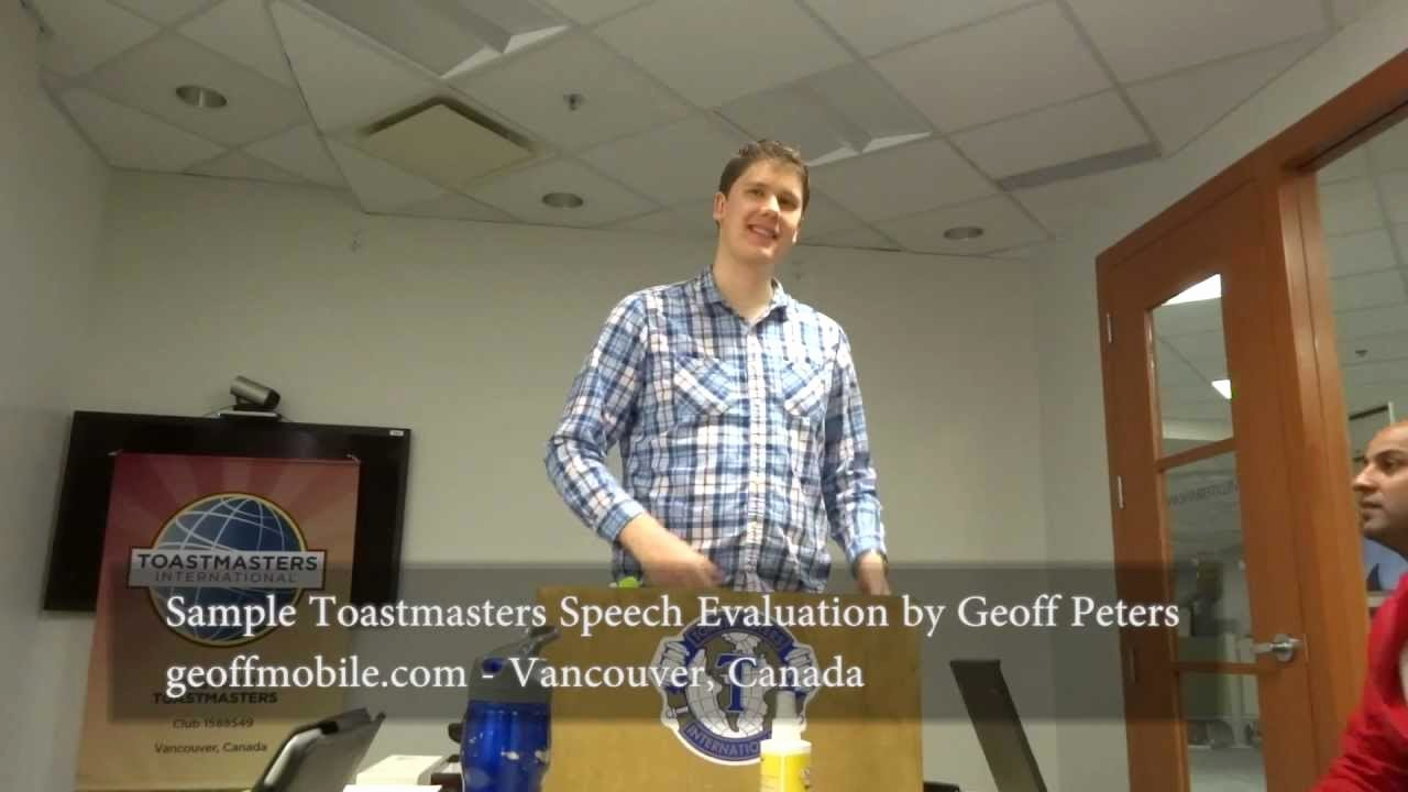 Toastmasters Speech Evaluation form Best Of Maxresdefault