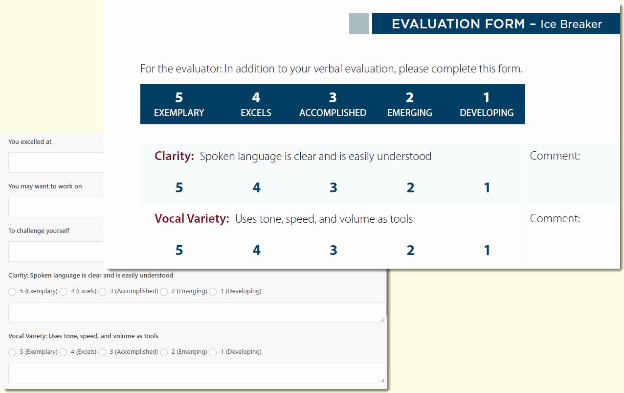 Toastmasters Speech Evaluation form Elegant Line Evaluation forms for Line Clubs Wordpress for toastmasters