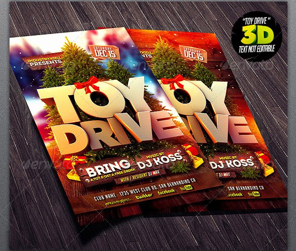 Toy Drive Flyer Template Free Awesome 17 Beautiful Christmas Party Flyer Templates – Design Freebies