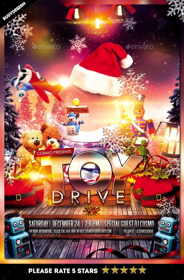 Toy Drive Flyer Template Free Awesome toy Drive Charity Flyer Template Psd Template • Ly Available Here