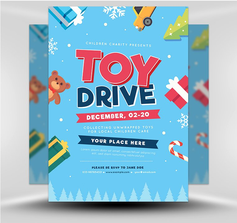 Toy Drive Flyer Template Free Beautiful toy Drive V2 Flyerheroes