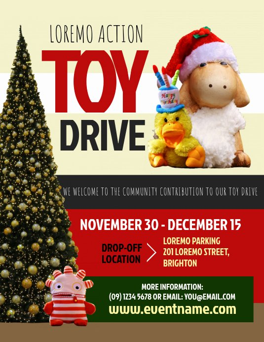 Toy Drive Flyer Template Free Best Of toy Drive Flyer Template