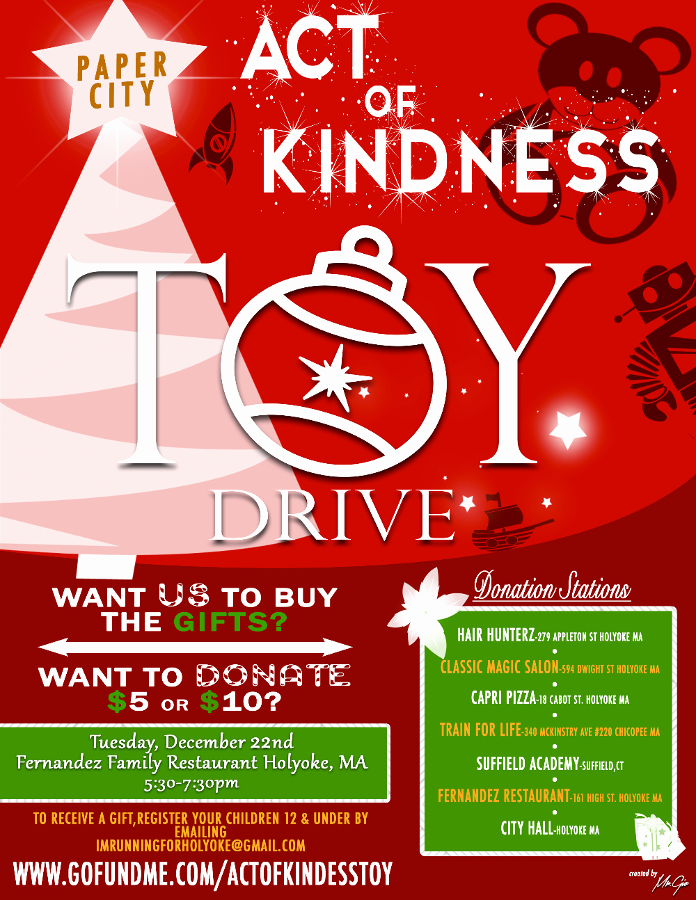 Toy Drive Flyer Template Free Inspirational Holyoke Act Of Kindness toy Drive by Harry Melendez Gofundme