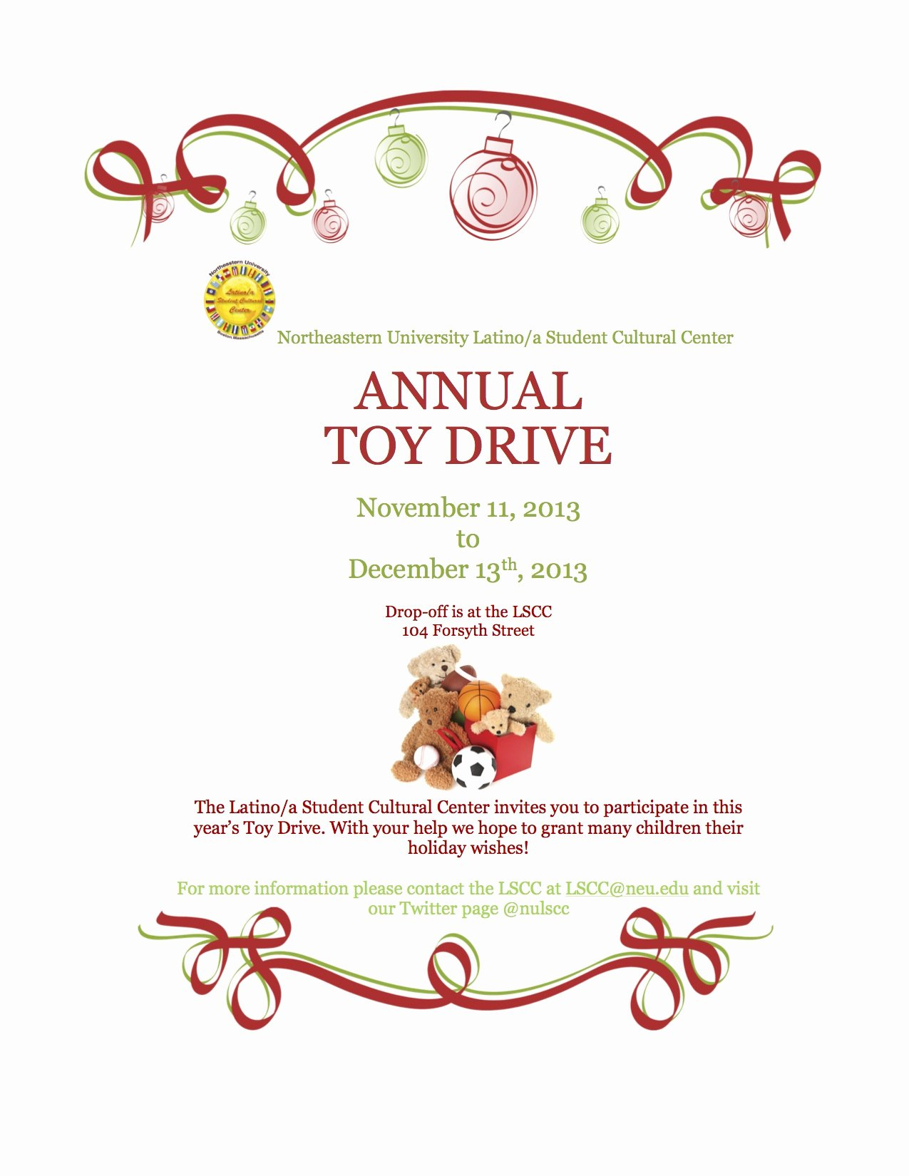 Toy Drive Flyer Template Free Inspirational Lscc toy Drive