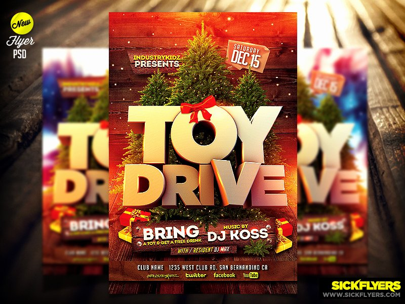 Toy Drive Flyer Template Free Inspirational toy Drive Flyer Template Psd by Industrykidz On Deviantart