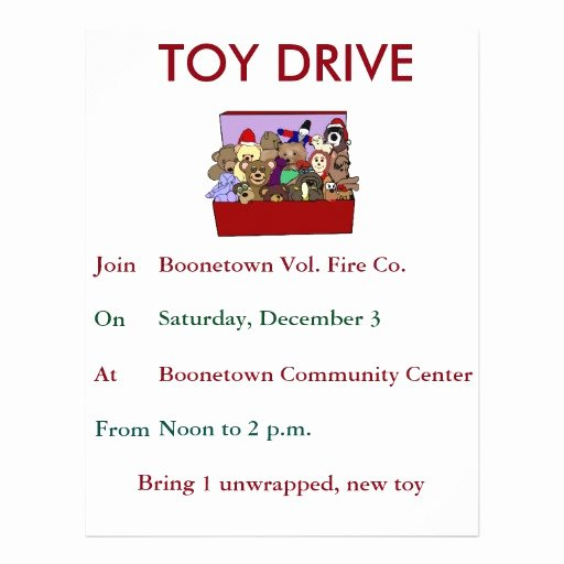 Toy Drive Flyer Template Free Inspirational toy Drive Template Flyer