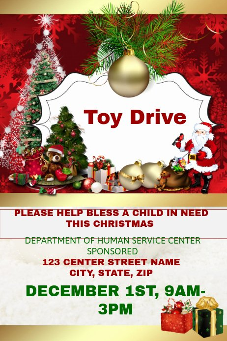Toy Drive Flyer Template Free Luxury toy Drive Template