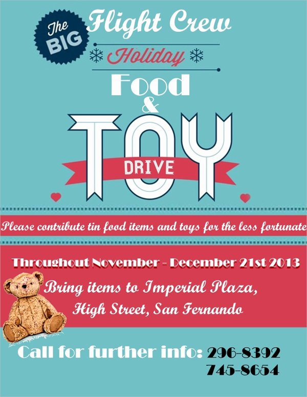 Toy Drive Flyer Template Free Unique 18 Food Drive Flyer Templates Psd Ai Word