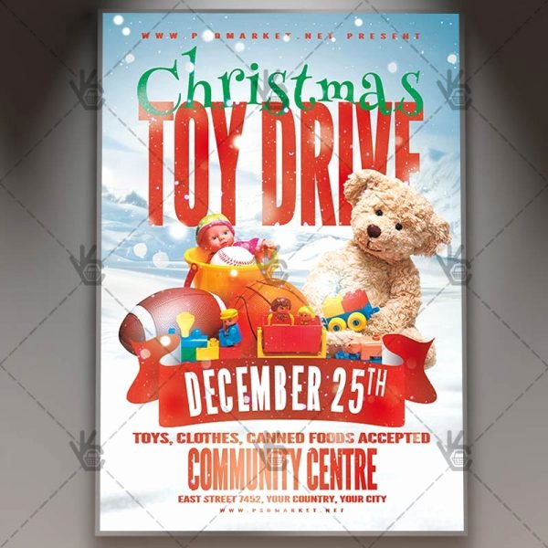Toy Drive Flyer Template Free Unique Download toy Drive event Flyer Psd Template