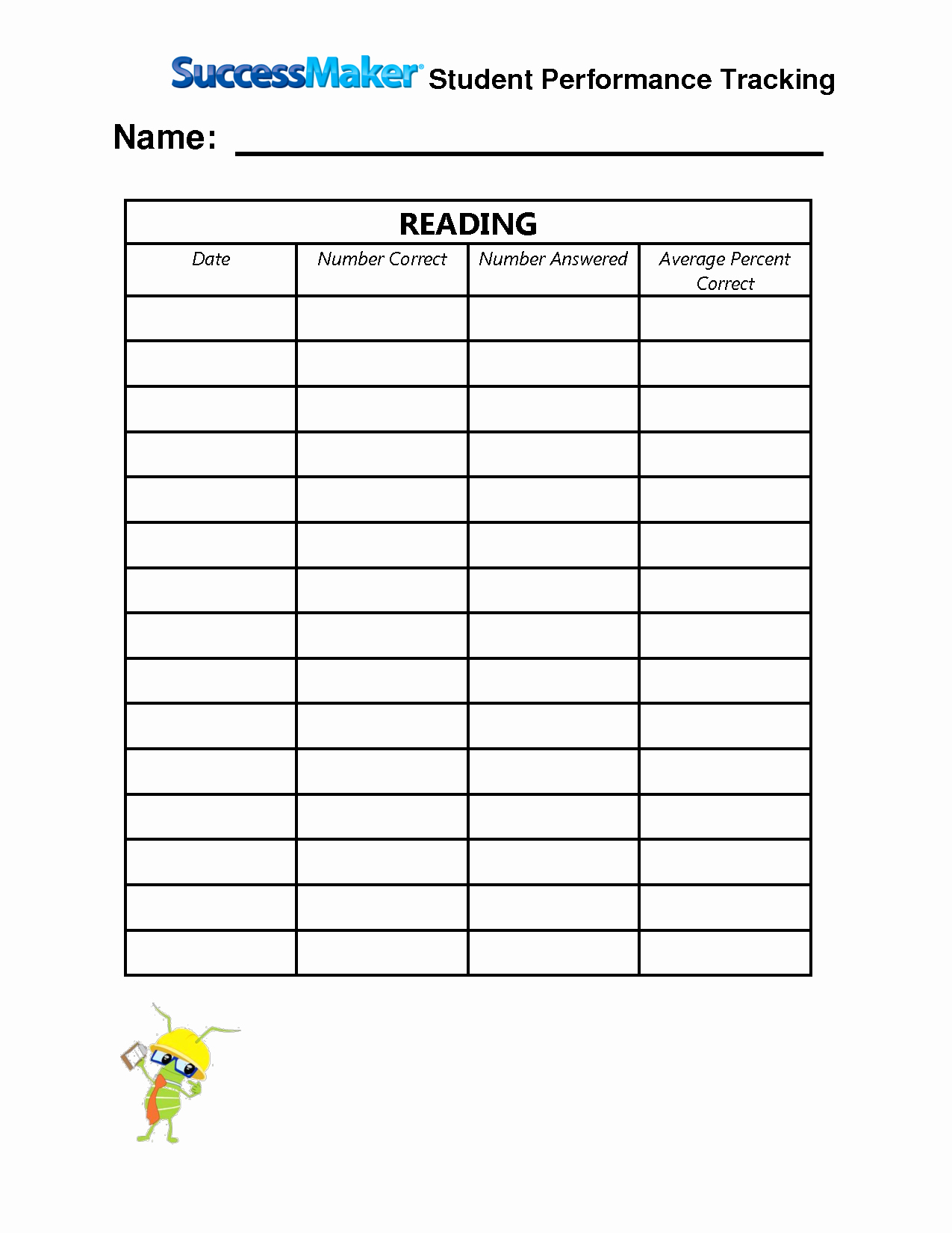 Tracking Student Progress Template Lovely Best S Of Tracking Student Progress Track Student Progress Student Reading Progress