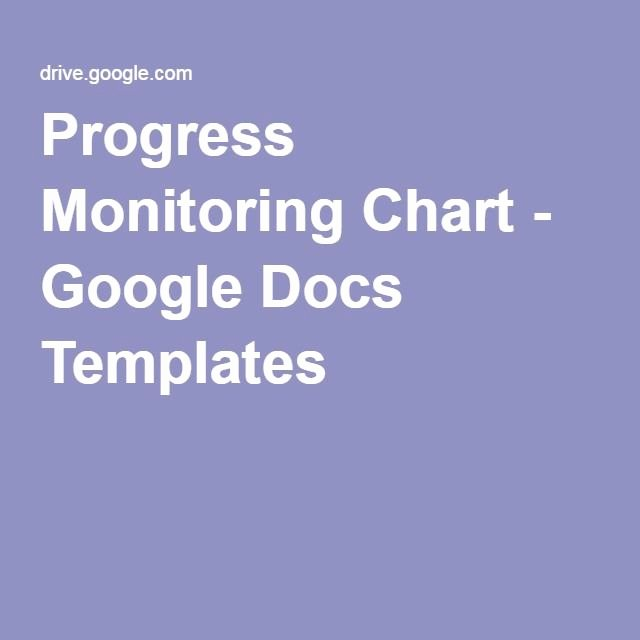 Tracking Student Progress Template Lovely Progress Monitoring Chart Google Docs Templates Progress Monitoring