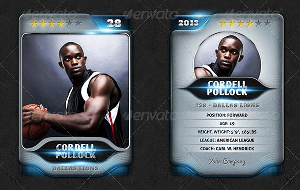 Trading Card Template Photoshop Fresh 23 Trading Card Templates
