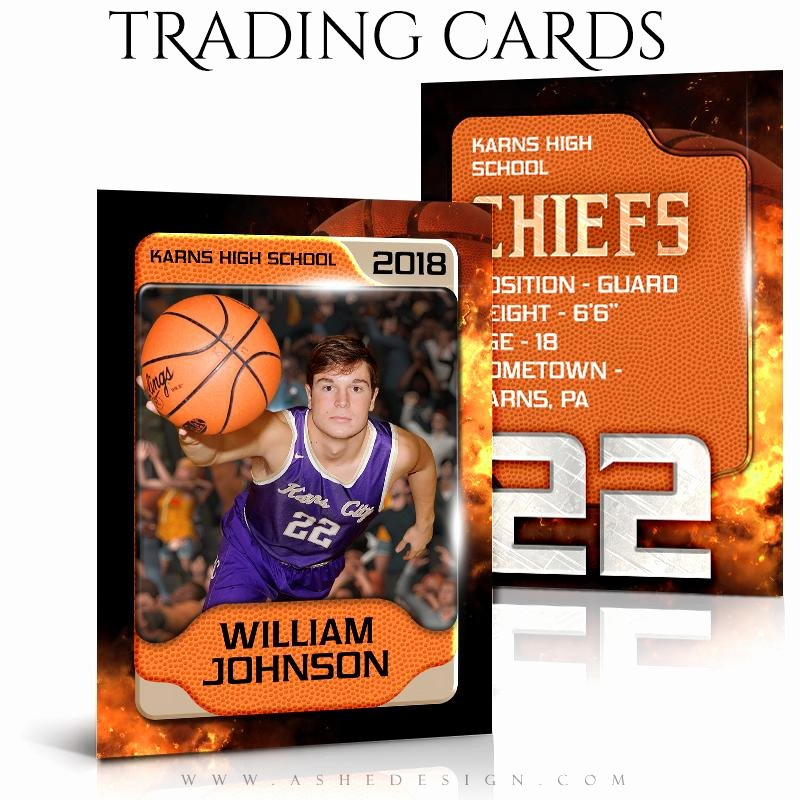 Trading Card Template Photoshop Luxury ashe Design Sports Trading Cards Backdraft Basketball – ashedesign