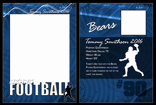 Trading Card Template Photoshop Unique Football Cutout Trading Card Shop & Elements