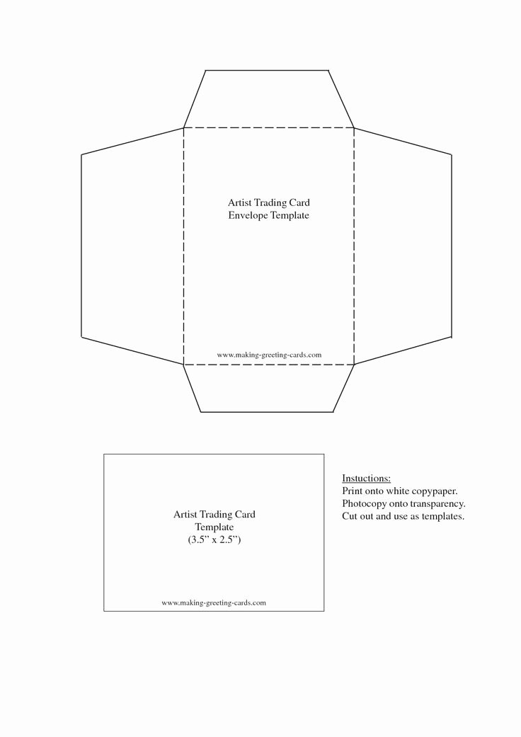 Trading Card Template Word Lovely 1000 Images About Envelope Templates On Pinterest