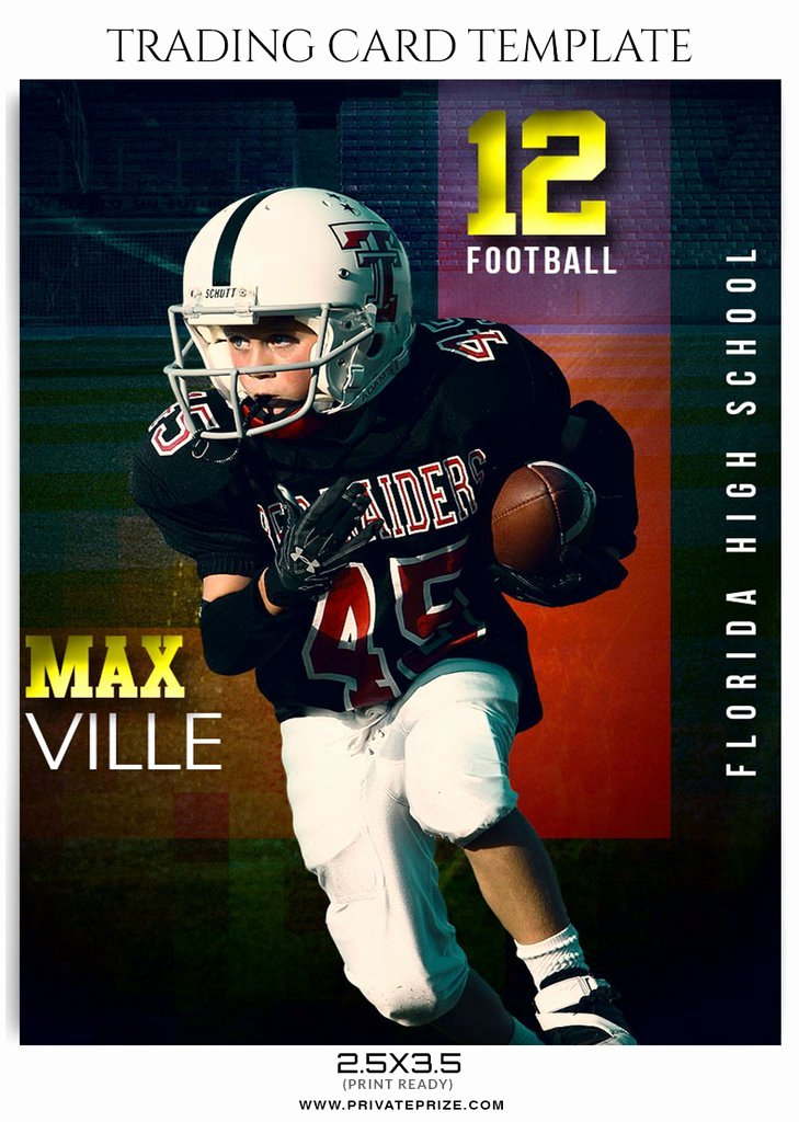 Trading Card Template Word New Max Ville Sports Trading Card Template