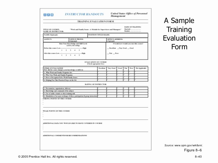 Training Feedback form for Employees Unique Training and Development Concepts