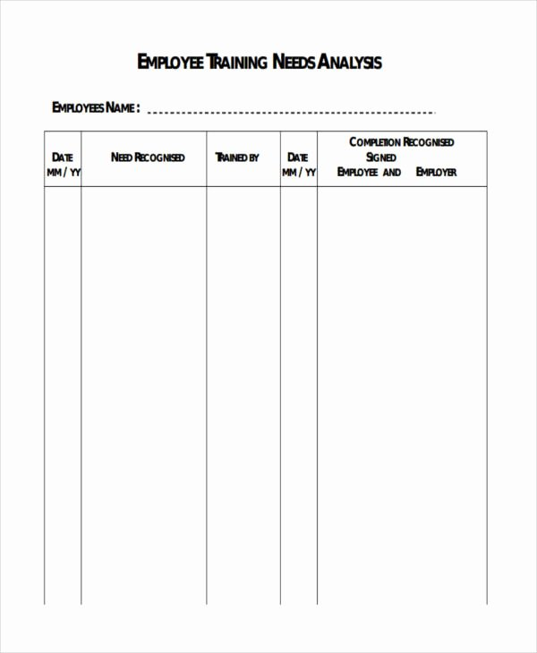 Training Needs Analysis Template Elegant Free 50 Needs Analysis Examples In Google Docs Google Sheets Excel Numbers Pages
