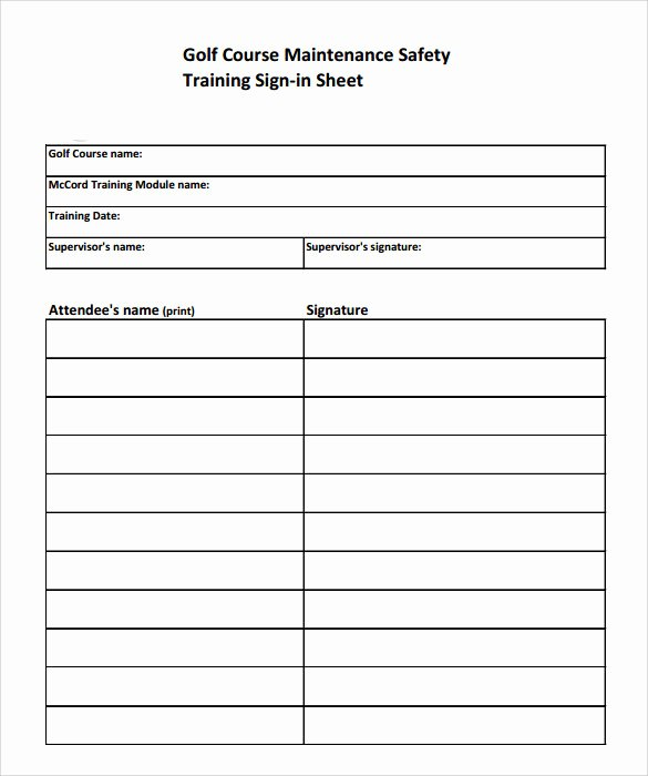 Training Sign Off Sheet Template Beautiful Sample Training Sign In Sheet 17 Documents In Pdf