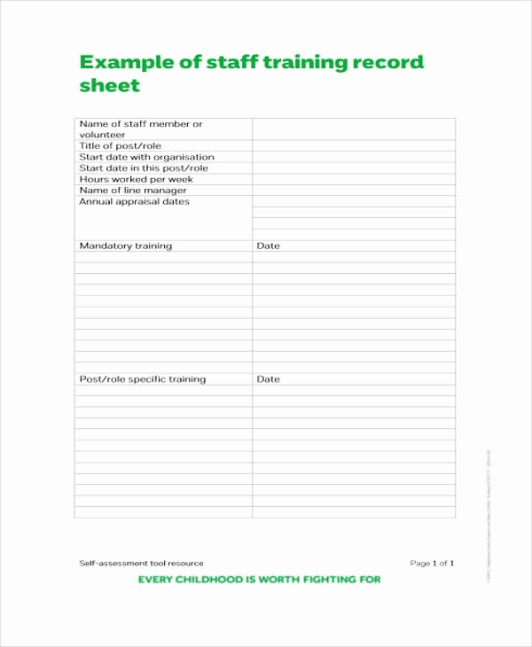 Training Sign Off Sheet Template Best Of Training attendance Record Template