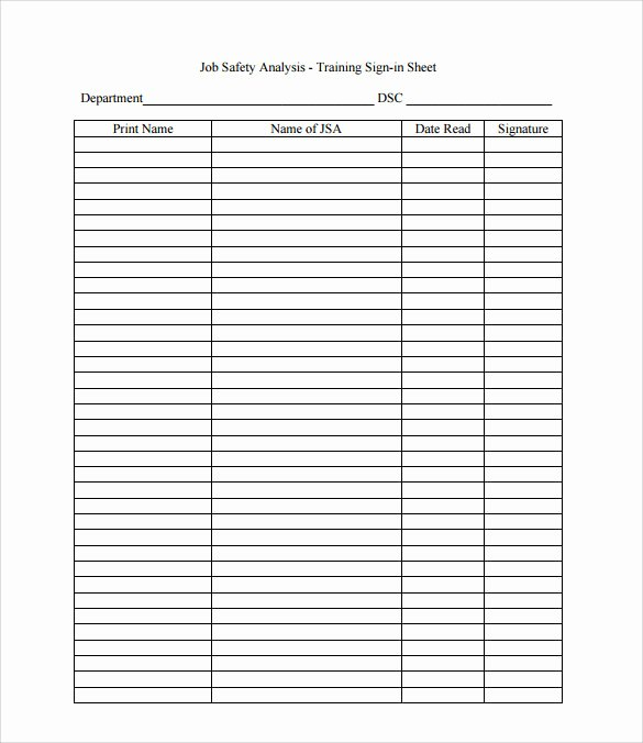 Training Sign Off Sheet Template Inspirational Sample Training Sign In Sheet 17 Documents In Pdf