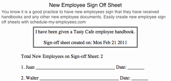Training Sign Off Sheet Templates Beautiful Free Employee Schedule Maker & Costs Manager