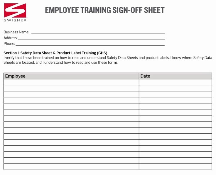 Training Sign Off Sheet Templates Beautiful Training Sign Off Sheet Template Excel Business Templates