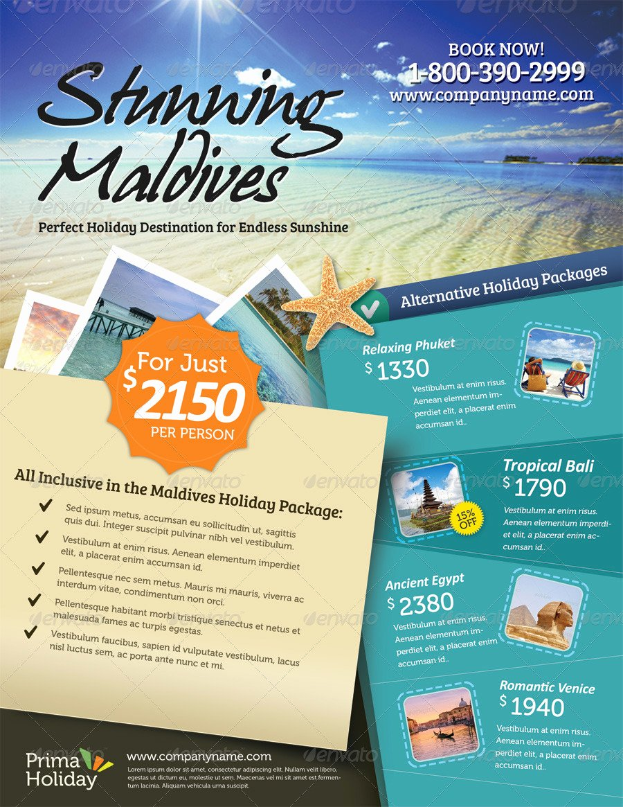 Travel Agency Advertising Samples Awesome Holiday Travel Flyer Vol 01 by Kinzi21