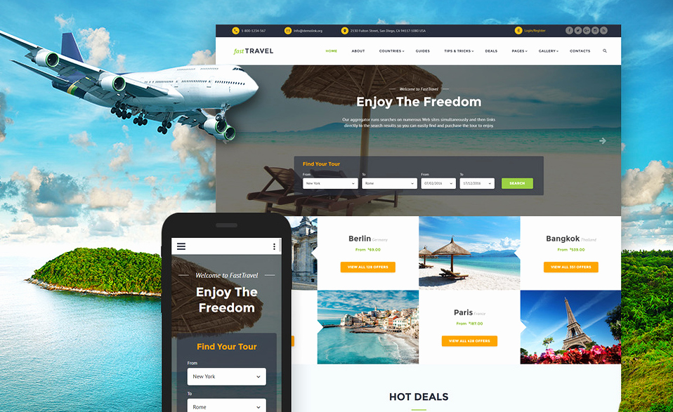 Travel Agency Advertising Samples Elegant 10 Mobile Friendly Travel & tourism Website Templates