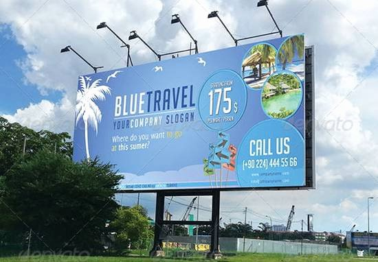 Travel Agency Advertising Samples Elegant 30 Awesome Billboard Template Designs for Outdoor Advertising