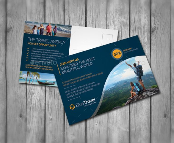 Travel Agency Advertising Samples Lovely 20 Advertising Postcard Templates – Free Sample Example format Download
