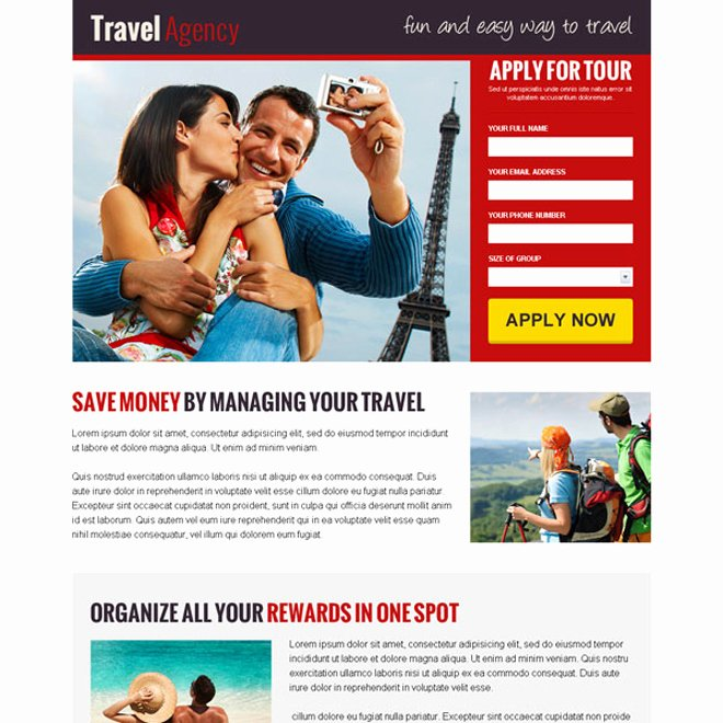 Travel Agency Advertising Samples Lovely Responsive Travel Landing Landing Page Design Templates for Your Travel Business Conversion