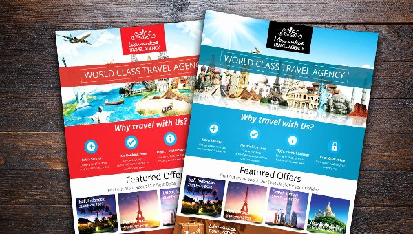 Travel Agency Advertising Samples Luxury 18 Travel Agency Flyer Templates Free & Premium Download