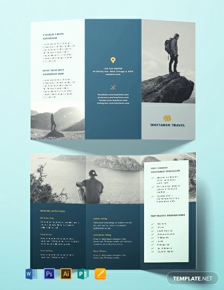 Travel Brochure Template Free Awesome Free Travel Brochure Template Word Psd Indesign Apple Pages Publisher