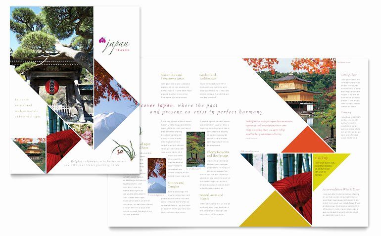Travel Brochure Template Free Awesome Japan Travel Brochure Template Word & Publisher