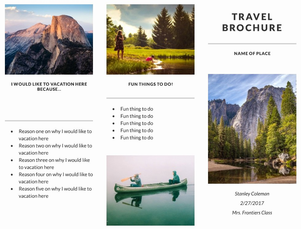 Travel Brochure Template Free Beautiful 11 Free Sample Travel Brochure Templates Printable Samples