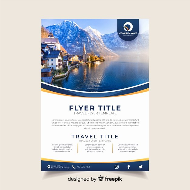 Travel Brochure Template Free Inspirational Travel Brochure Template with Photo Vector