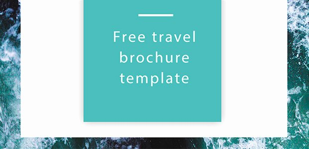 Travel Brochure Template Free Lovely Free Travel Brochure Template Free Indesign Template