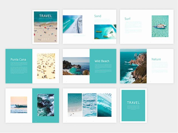free travel brochure template in indesign