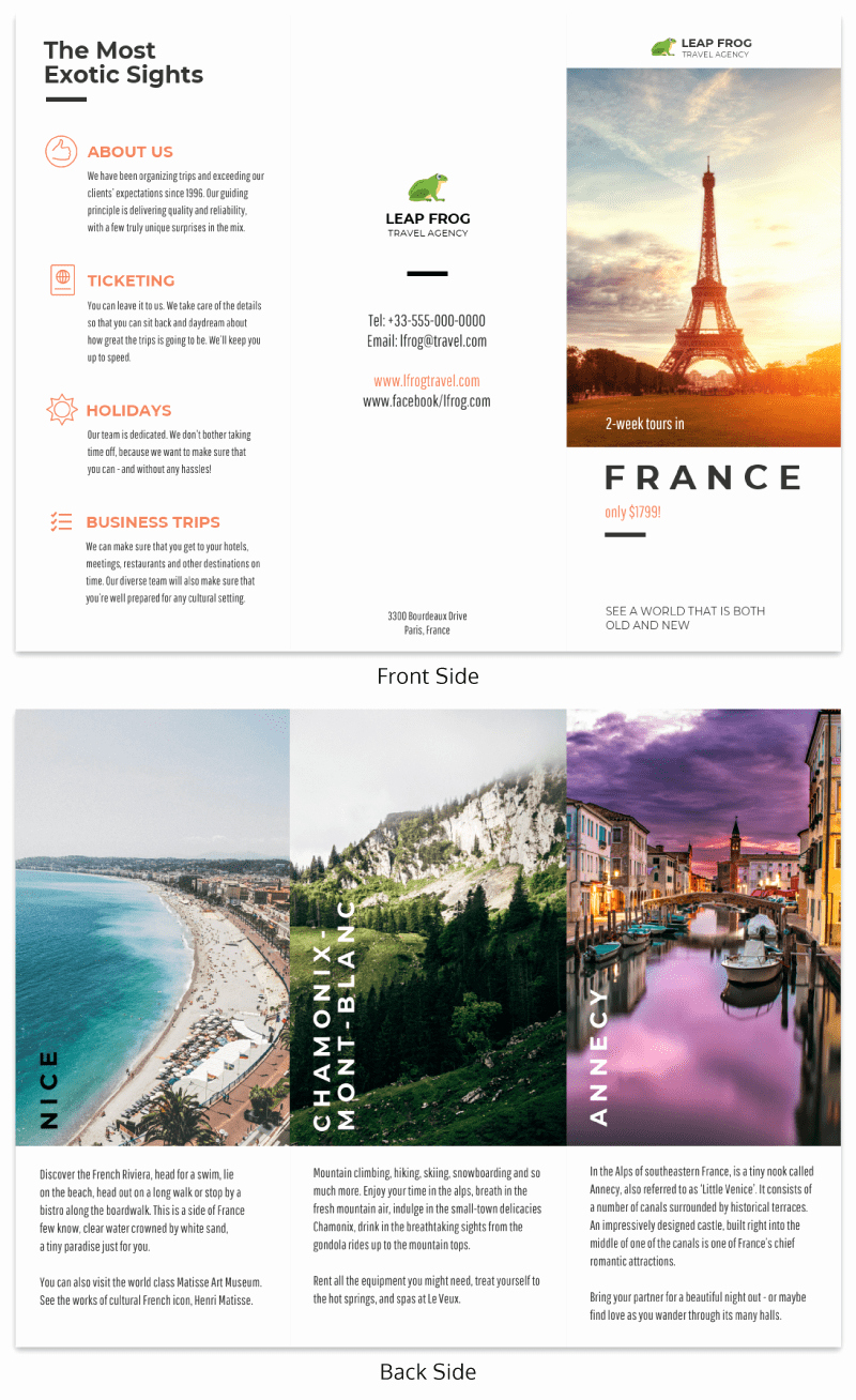 Travel Brochure Template Free Luxury 21 Brochure Templates and Design Tips to Inform Your Au Nce and Promote Your Business Updated