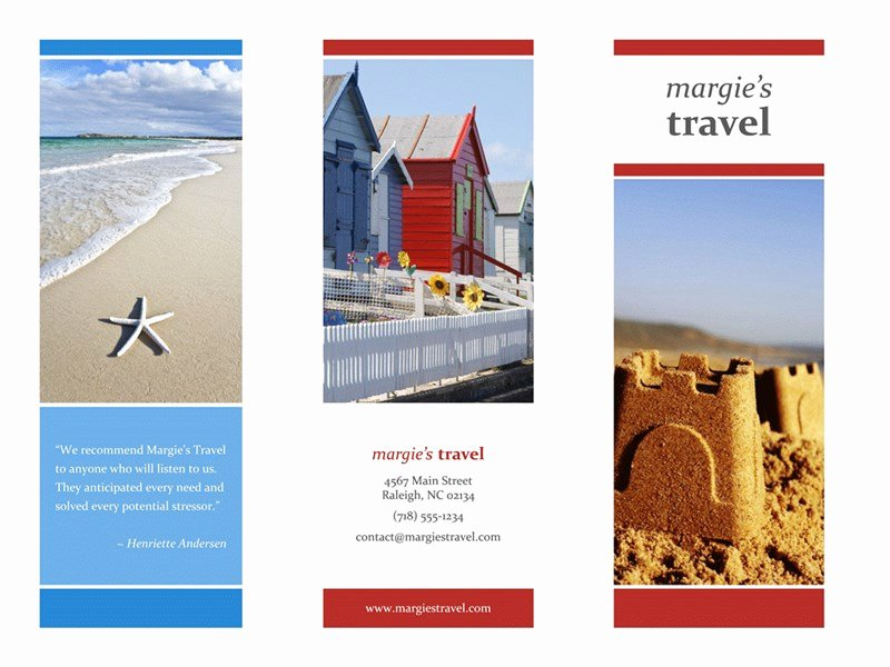 Travel Brochure Template Free Luxury Tri Fold Travel Brochure Red Gold Blue Design