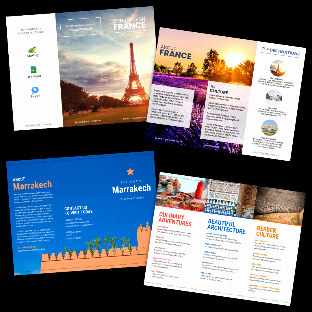 Travel Brochure Template Free New Travel Brochure Templates Make A Travel Brochure Venngage