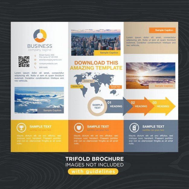 Travel Brochure Template Free New Vibrant Colorful Travel Business Trifold Brochure Template Vector