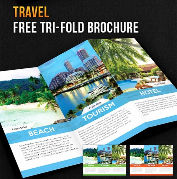 Travel Brochure Template Free Unique Free Psd Travel Brochure Design Templates