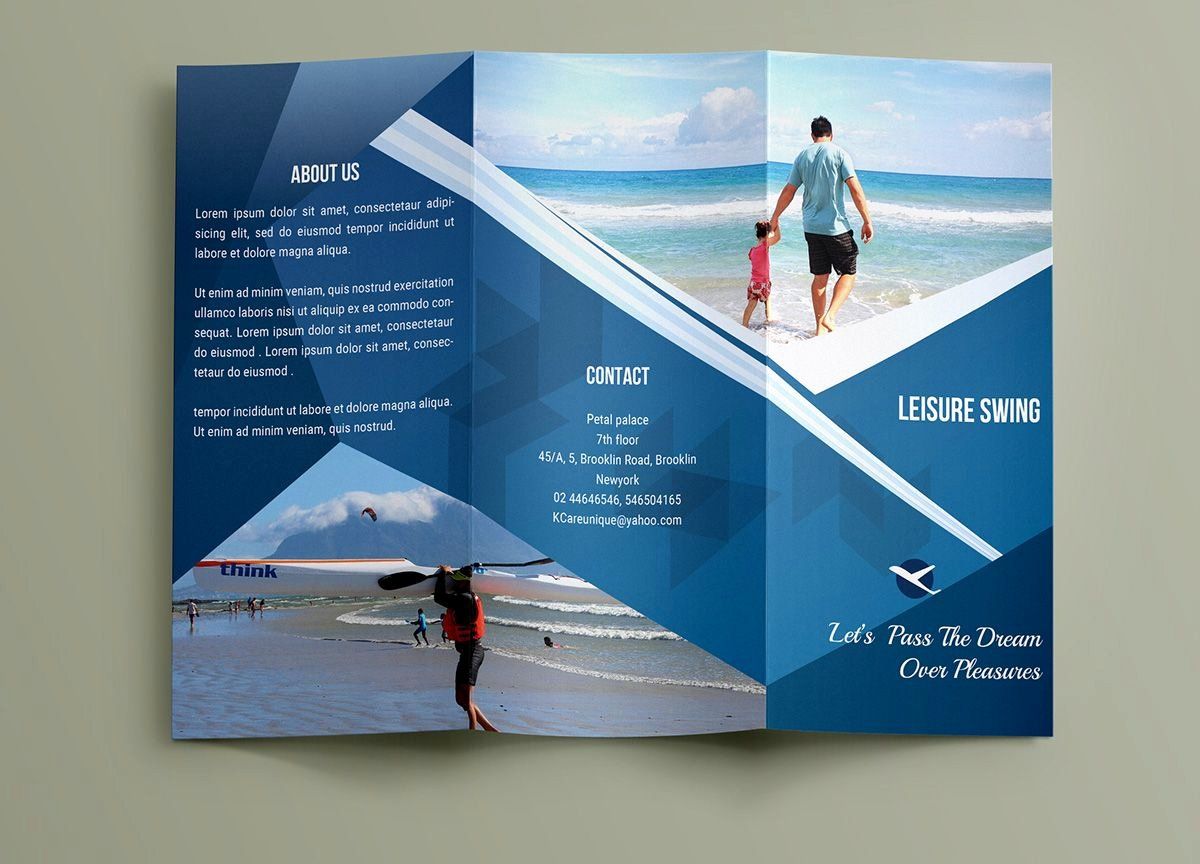 Travel Brochure Template Free Unique Free Travelling Trifold Brochure Template On Behance Brochure Template