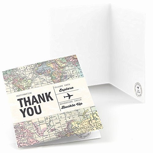 Travel themed Thank You Cards Best Of Amazon World Awaits Travel themed Party Thank You Cards Set Of 8 toys & Games