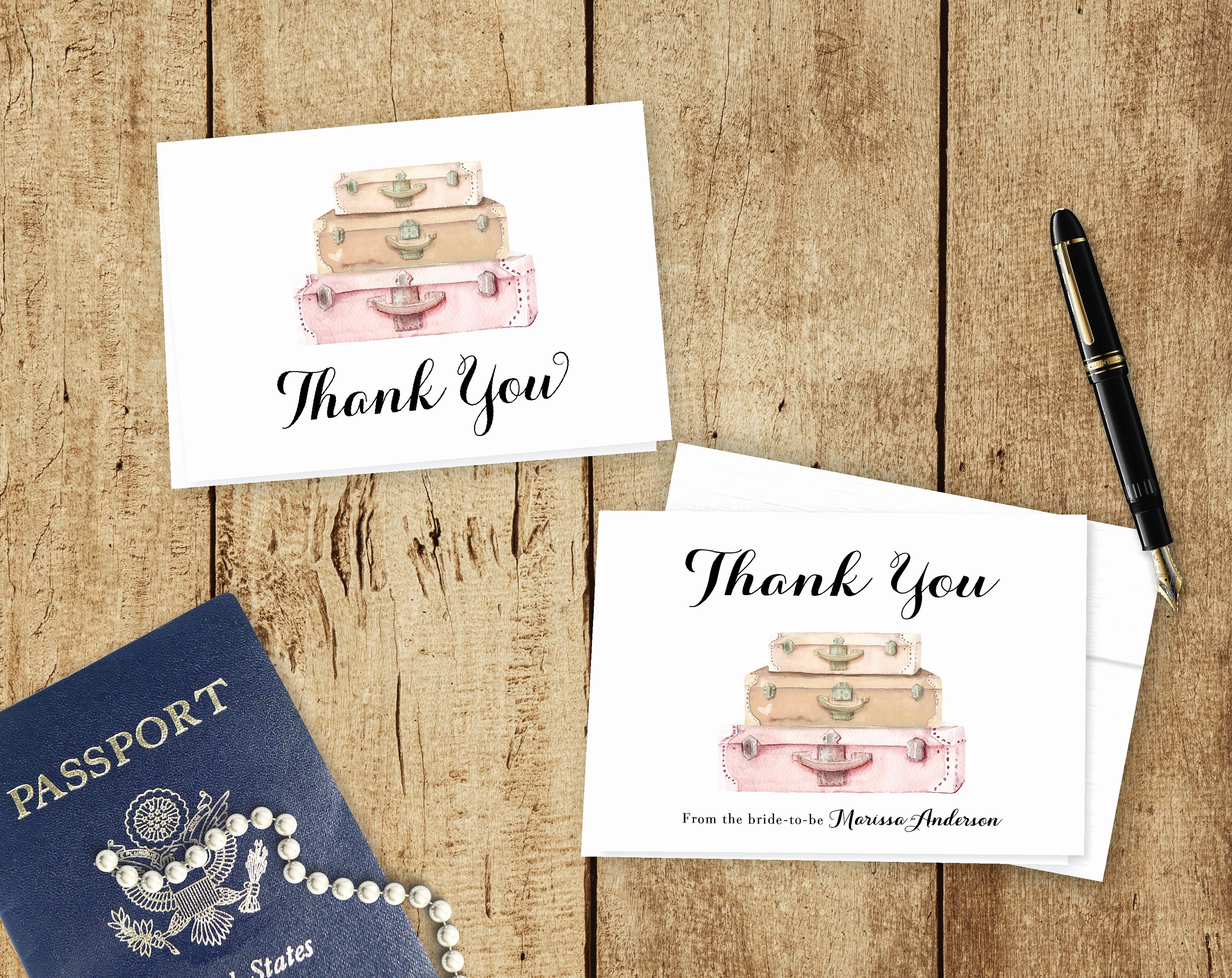 Travel themed Thank You Cards Best Of Travel theme Thank You Cards Custom Colors Personalized